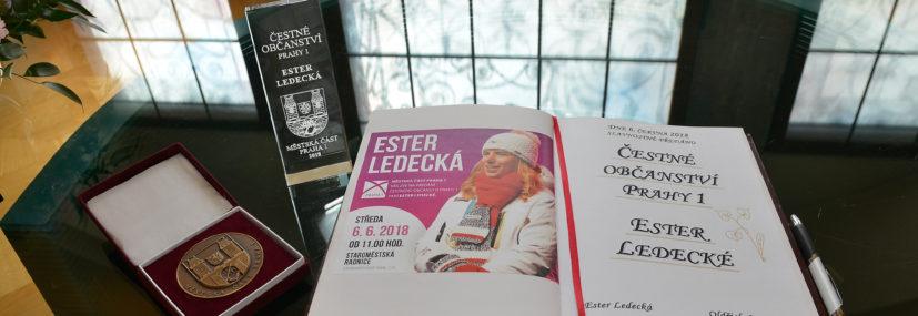 Nová čestná občanka Prahy 1: Ester Ledecká